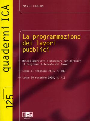 La Programmazione dei Lavori Pubblici