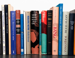 Libri su scaffale